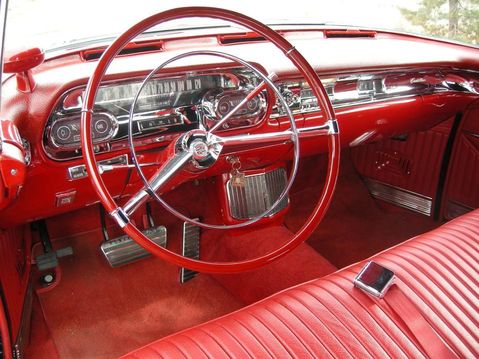 red interior 1957 Cadillac Eldorado Biarritz Convertible