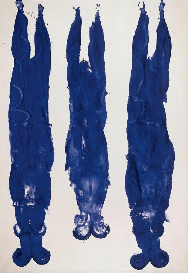 Anthropome´trie sans titre (1961) by Yves Klein. Photograph: Yves Klein, ADAGP, Paris/DACS, London.